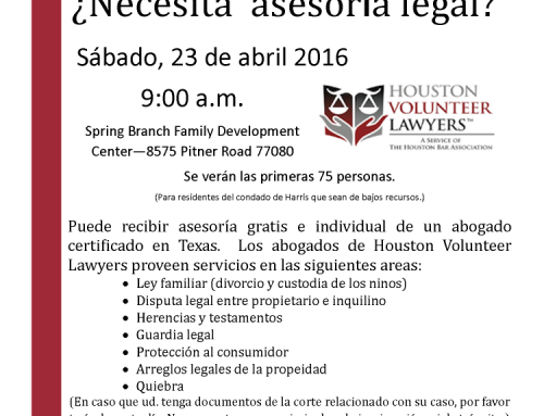 Free Legal Clinic – Saturday, April 23