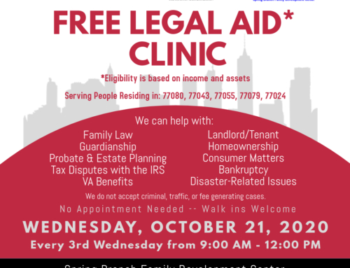 Free Legal Clinic – Wednesday, October 21
